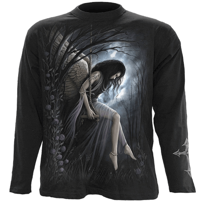 Angel Lament Mens Long Sleeve T-Shirt