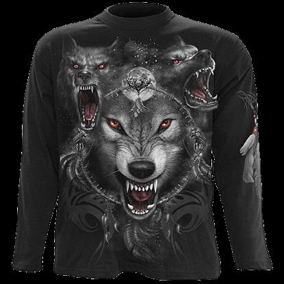 Wolf Triad Long Sleeve T-Shirt