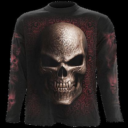 Goth Skull Long Sleeve T-Shirt