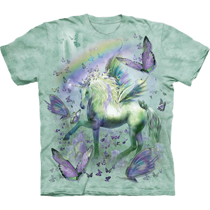 Childs Unicorn and Butterflies T-Shirt