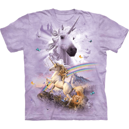 Childs Double Rainbow Unicorn T-Shirt