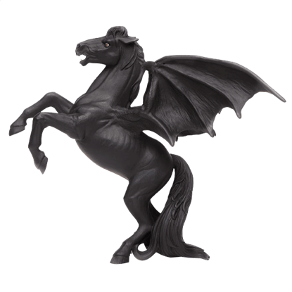 Areion The Black Pegasus Figure
