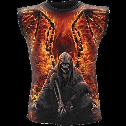 Flaming Death Sleeveless Shirt