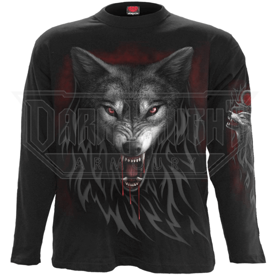 Black Legend of the Wolf Long Sleeve T-Shirt