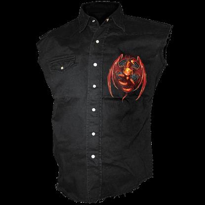 Dragons Wrath Sleeveless Stonewashed Shirt