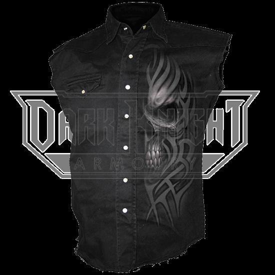Death Rage Sleeveless Stonewashed Shirt