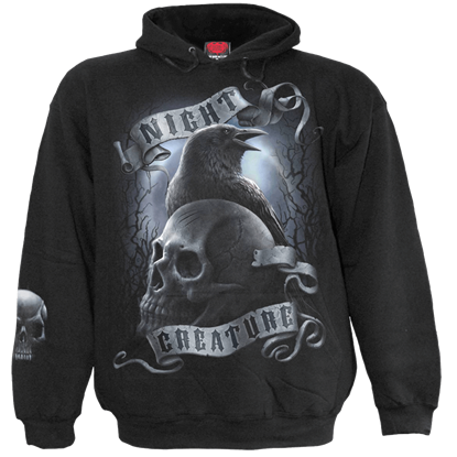 Black Night Creature Hoodie