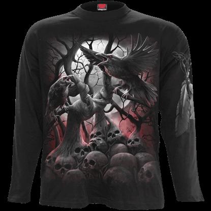 Dark Roots Black Long Sleeve T-Shirt