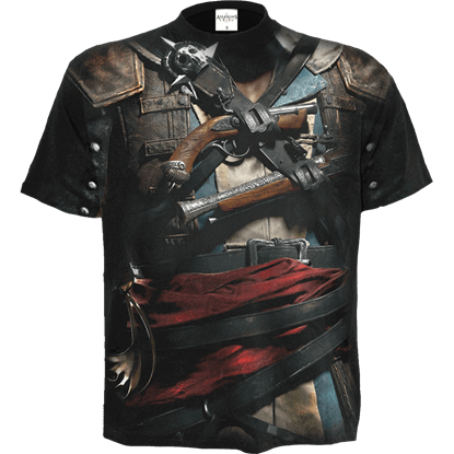 Assassins Creed IV Black Flag Allover Edward Uniform T-Shirt