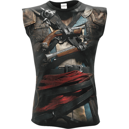 Assassins Creed IV Black Flag Edward Sleeveless T-Shirt