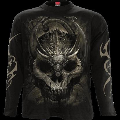 Draco Skull Long Sleeve T-Shirt