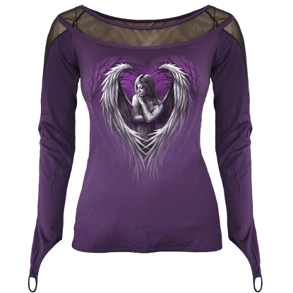 Angel Heart Fine Mesh Womens Shirt