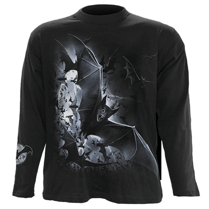 Nightfall Bats Long Sleeve T-Shirt