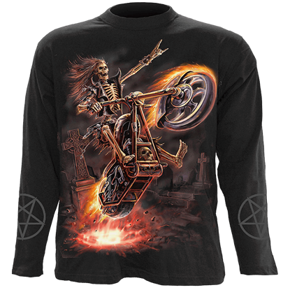 Hell Rider Mens Long Sleeve T-Shirt