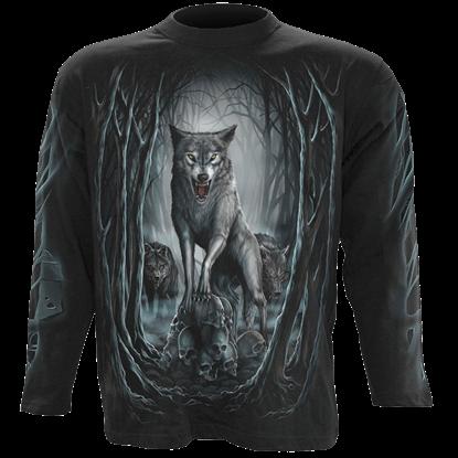 Wolf Nights Mens Long Sleeve Shirt