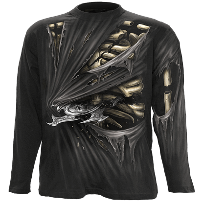 Bone Slasher Mens Long Sleeve T-Shirt