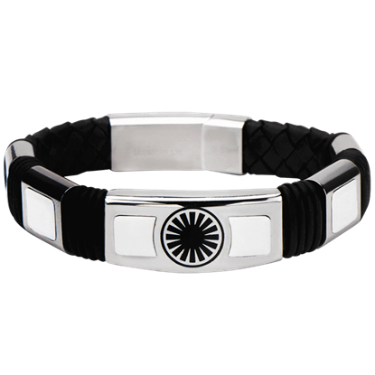Force Awakens First Order Logo Leather Bracelet