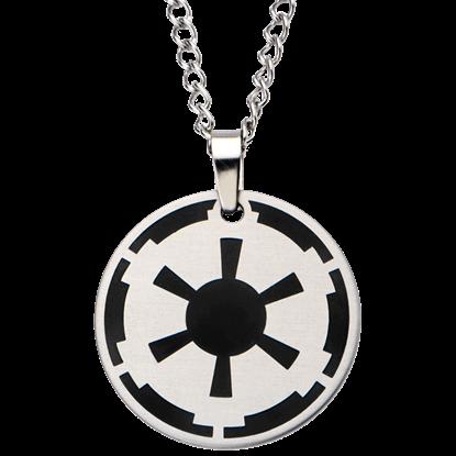 Black Galactic Empire Steel Enamel Necklace