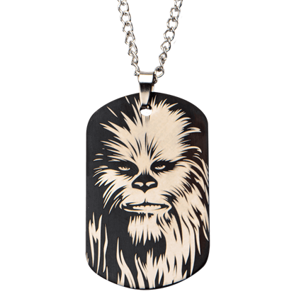 Chewbacca Stainless Steel Dog Tag Necklace