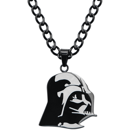 Darth Vader Etched Necklace