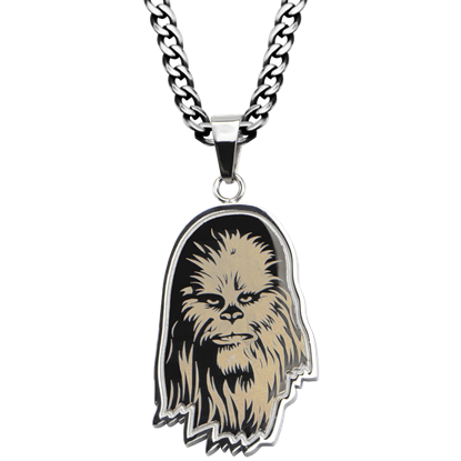 Chewbacca Etched Necklace
