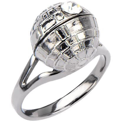 Death Star 3D Crystal Ring