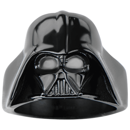Darth Vader Black Large 3D Helmet Ring