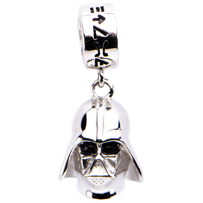 Darth Vader Sterling Silver Dangle Charm