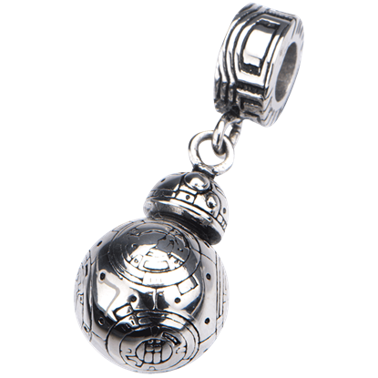 BB-8 Stainless Steel Dangle Charm