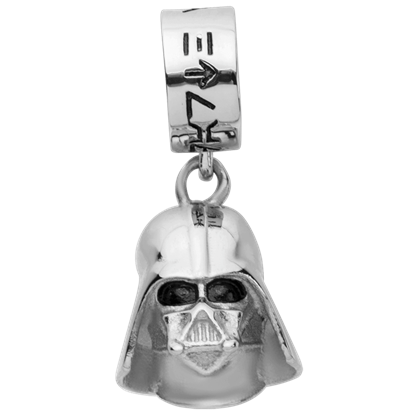 Darth Vader Stainless Steel Dangle Charm