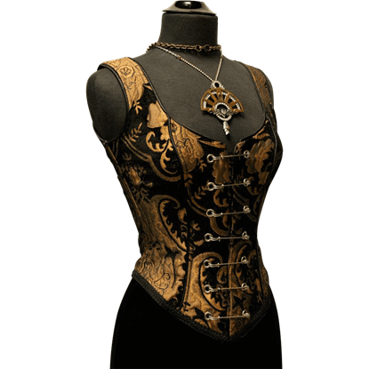 Gold and Black Tapestry Bodice