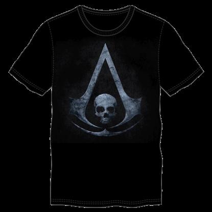 Black Assassin's Creed Logo T-Shirt