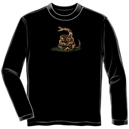 Dont Tread On Me Black Long Sleeve Shirt