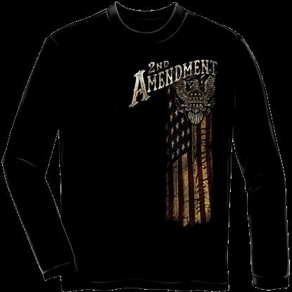 Second Amendment Eagle Silver Foil Long Sleeve Shirt