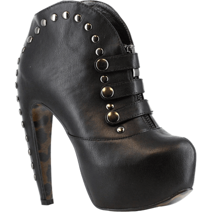 Gunmetal Hardware Booties