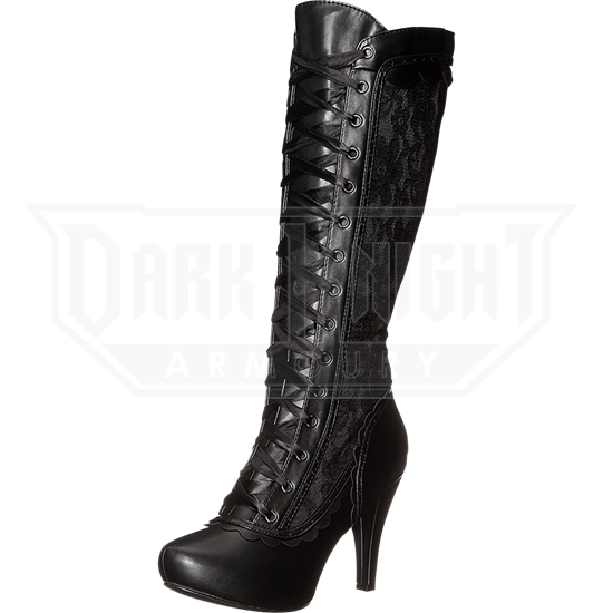 Lady Alexia Lace Panel Boots
