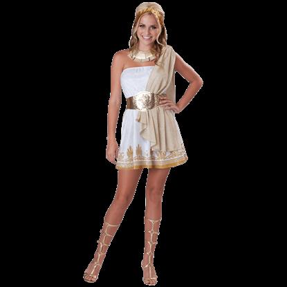 Glitzy Greek Goddess Teen Costume