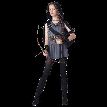 Hooded Huntress Tween Costume
