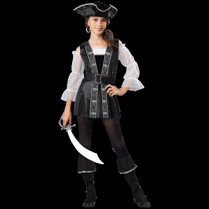 Dark Pirate Tween Costume