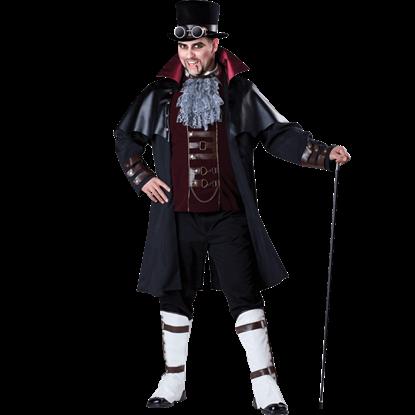 Mens Steampunk Vampire Plus Size Costume