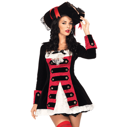 Charming Pirate Captain Costume Dress