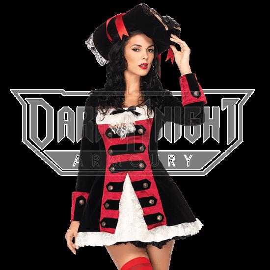 Charming Pirate Captain Costume Dress