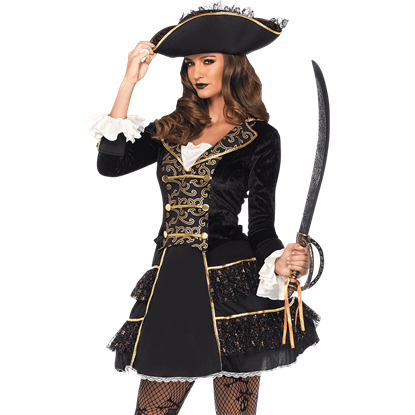 Womens High Seas Pirate Captain Costume