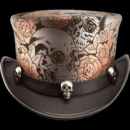 Skull N Roses Hat