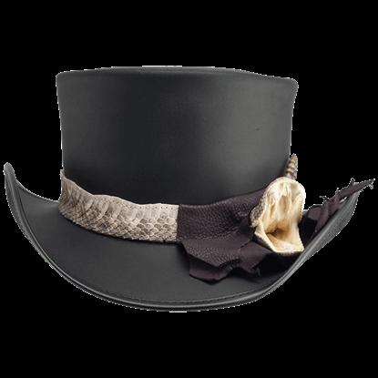 Pale Rider Rattlesnake Top Hat