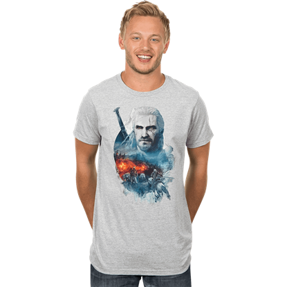 Mens Premium Witcher 3 Into the Fire T-Shirt