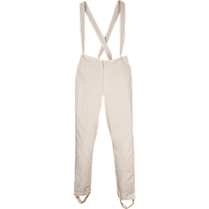 Britannia White Suspender Pants
