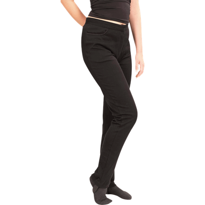 Steampunk Black Stretch Pants