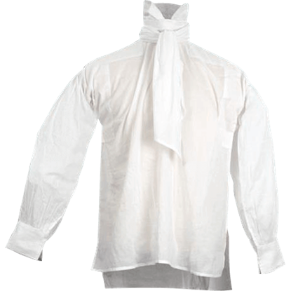 White Cotton Cravat Shirt