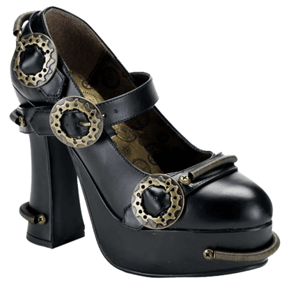 Steampunk Heels with Mechanical Accents